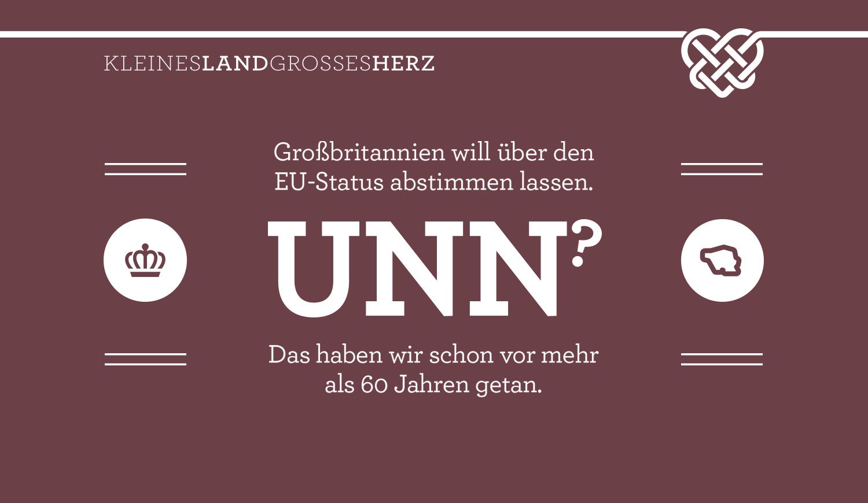 Großbritannien will über den EU-Status abstimmen lassen - UNN? - Das haben wir schon vor mehr  als 60 Jahren getan.