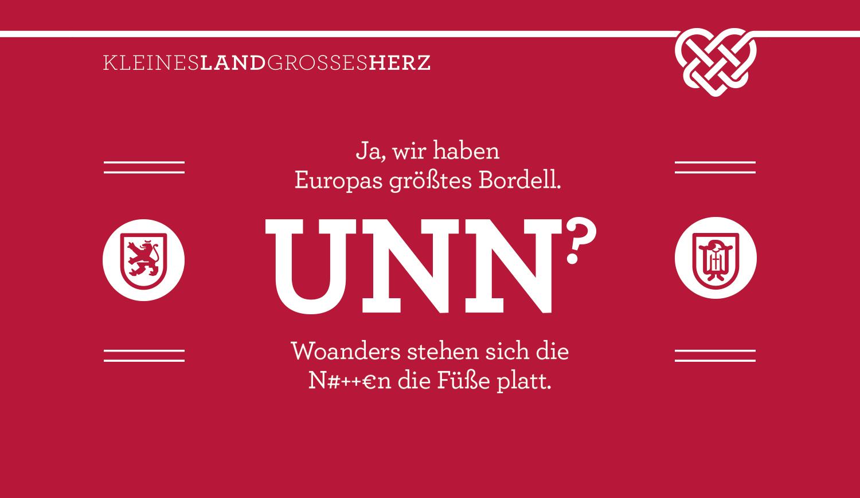 Ja, wir haben Europas größtes Bordell - UNN? - Woanders stehen sich die N#++€n die Füße platt.